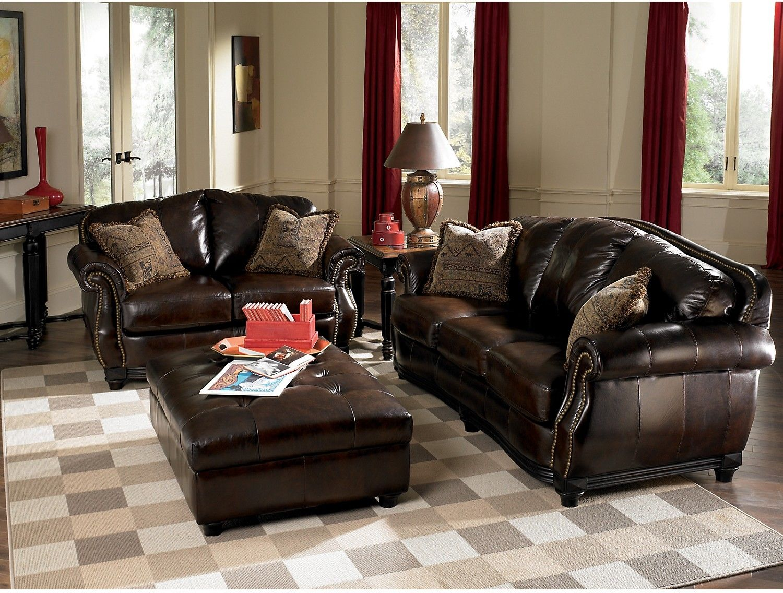 Prestige 100 Genuine Leather Sofa Brown The Brick With Images Genuine Leather Sofa Brown Leather Sofa Leather Sofa
