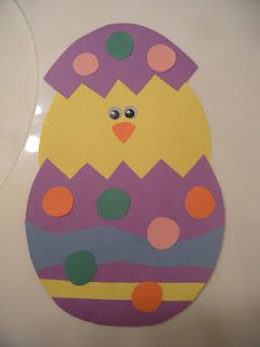 Easter Chick U Could Have The Students Write Math Sentence Using Top Half Arts And CraftsPreschool CraftsEgg