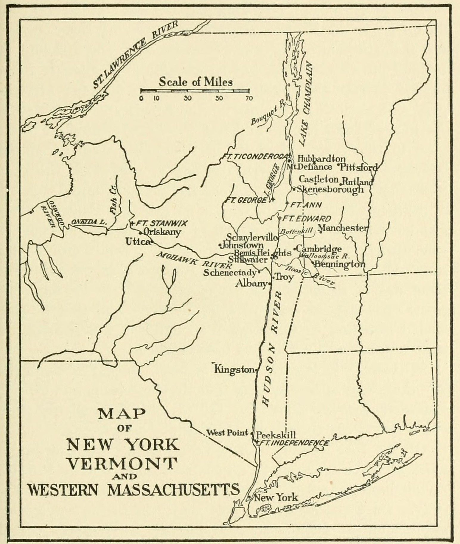 Early Map of New York and Vermont | Historical Resources ...