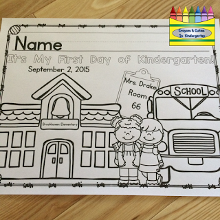 FREE editable coloring page for the first day of school Preschool
