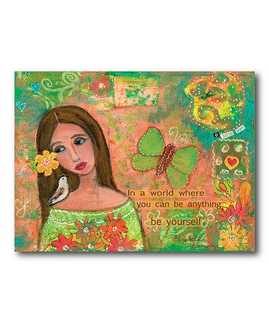 Take a look at this be yourself canvas wall art by courtside take a look at this be yourself canvas wall art by courtside market on solutioingenieria Images