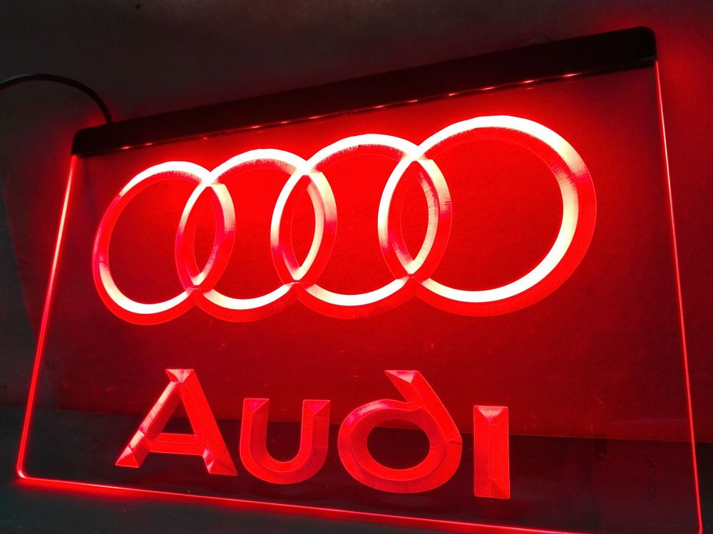 Led Sign Home Decor Fascinating Audi Led Neon Light Sign Hang Sign Home Decor Crafts #unbranded Inspiration Design