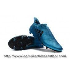 brand new af6bc b3f08 ... madrid botas de futbol adidas x 17+ purespeed fg azul negro core