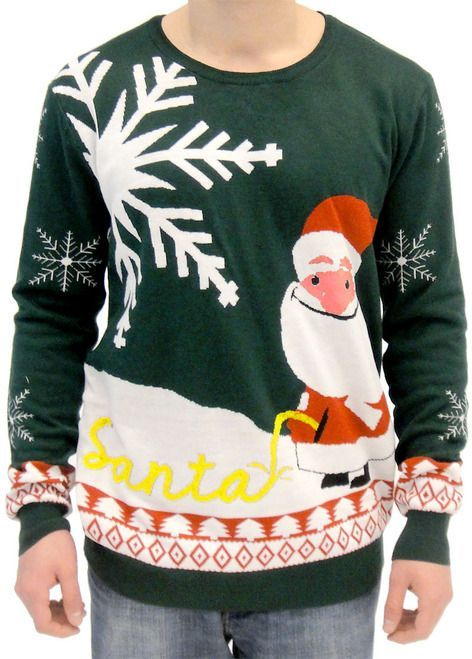 FUNNY CHRISTMAS JUMPER DON/'T EAT YELLOW SNOW