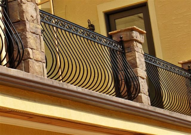 Fabulous Scroll Wrought Iron Half Railing Flowing Curves That Follow The Architecture Of The Iron Stair Railing Wrought Iron Stair Railing Wrought Iron Stairs