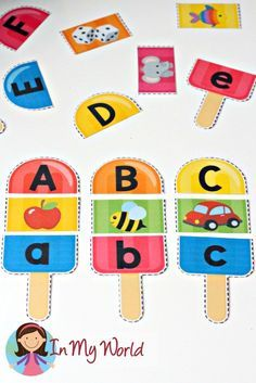 Summer Popsicle Alphabet and Beginning Sounds - FREE Printable