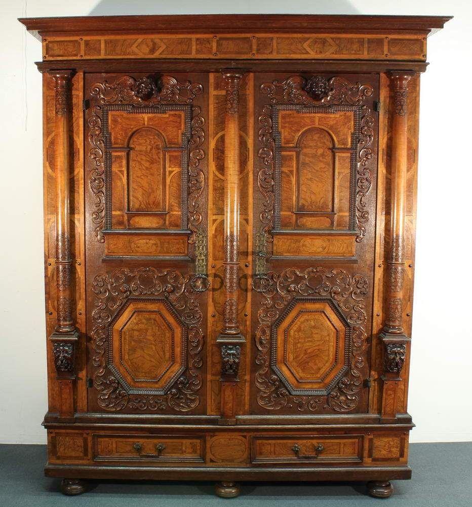Möbel Augsburg fassadenschrank augsburg um 1700 zweitüriger korpus mit