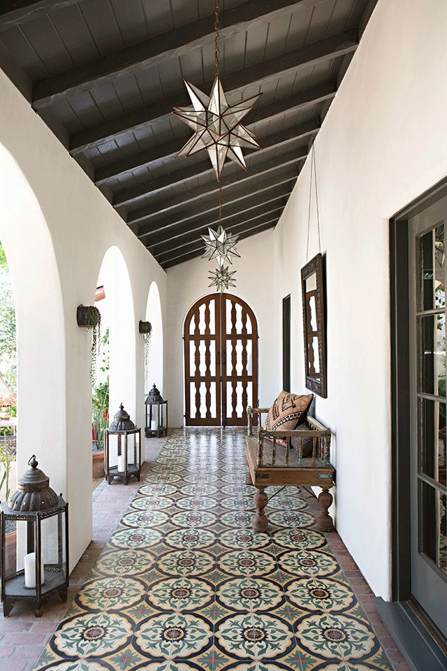 Courtyard Arcade From A Spanish Colonial Revival Residence