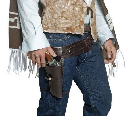Amazon.com: Smiffy's Men's Belt And Holster, Brown, One Size: Clothing