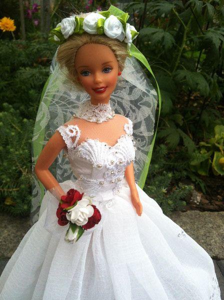 Puppenkleidung - Brautkleid Tatoo - ein Designerstück von kreativer ...