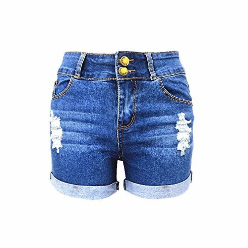 ba66d34dc2 Miraclelove Women's Juniors Slim Fit High Waisted Denim Shorts Jean Shorts