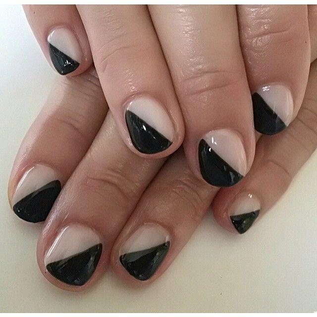 Black And Tan Nail Design Tan Nail Designs Tan Nails Trendy Nails