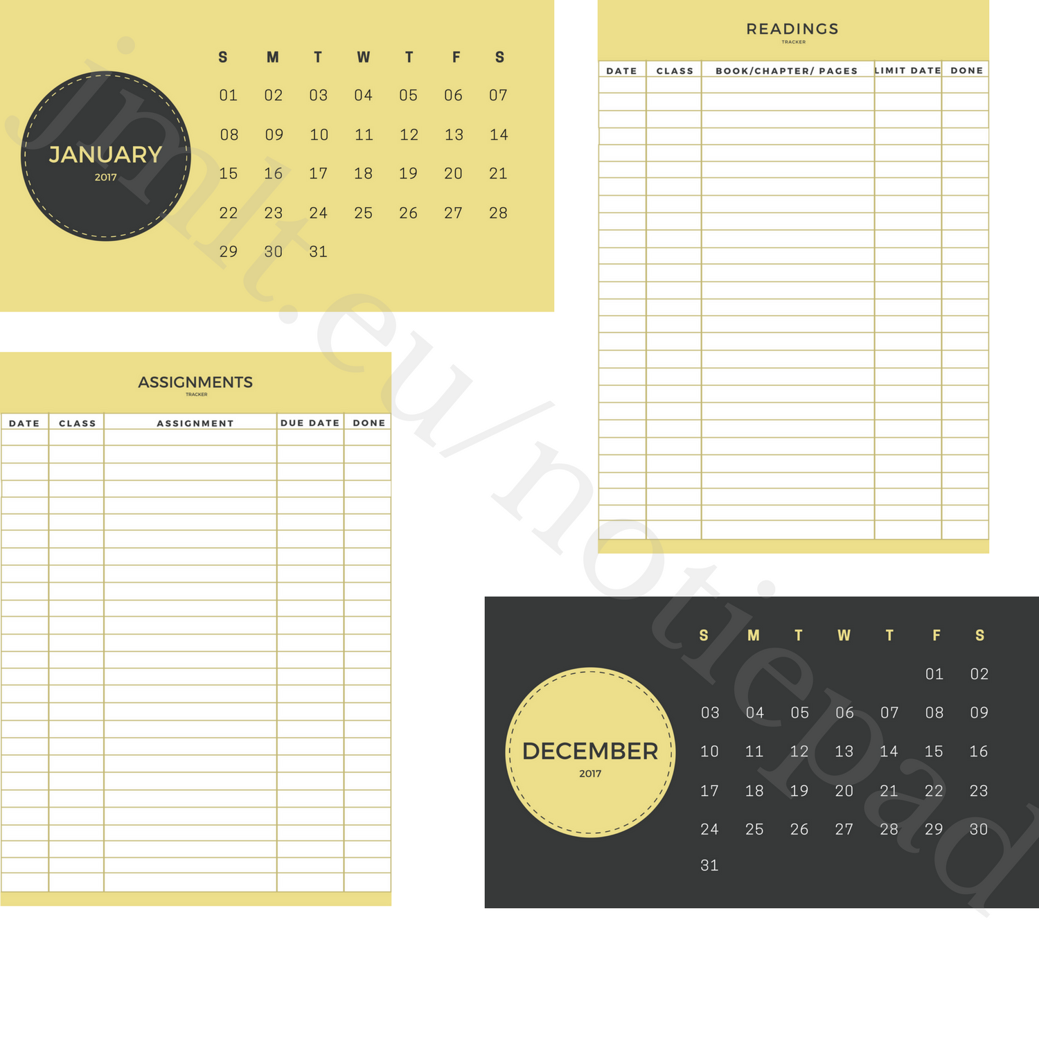 Attention students! Grab these free printables at jmlt.eu