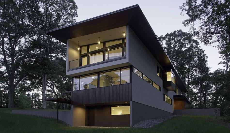 Belle maison atypique qui allie architecture moderne et japonaise ...