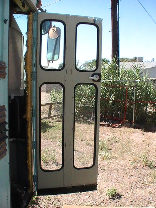 Lorna Schinske Uploaded This Image To 39 Bluebird Bus Conversion X2f Entrance Door 39 See The Album On Ph School Bus Camper Bus Conversion School Bus Rv