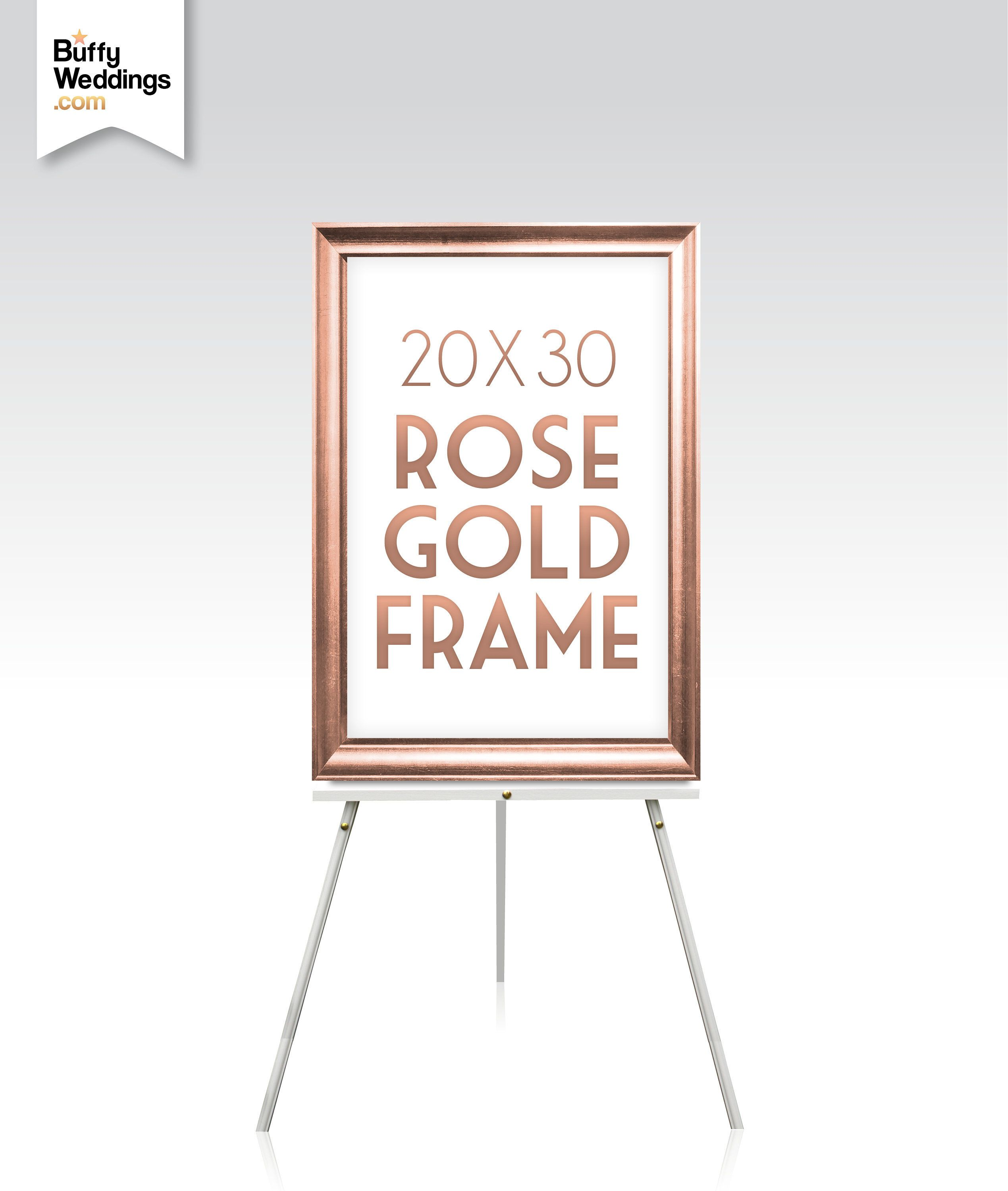 20 X 30 Rose Gold Frame Solid Maple Wood Wedding Sign Frame Gold