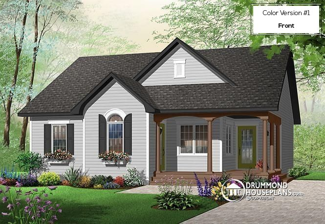 Color version 1 Front Affordable 2 bedroom bungalow with
