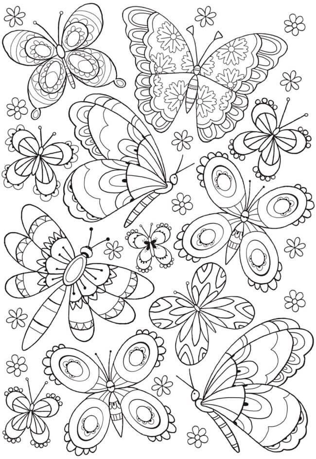 The 10 Best Colouring Pages For Kids For Long Days At Home Paul Paula Butterfly Coloring Page Mandala Coloring Pages Colouring Pages