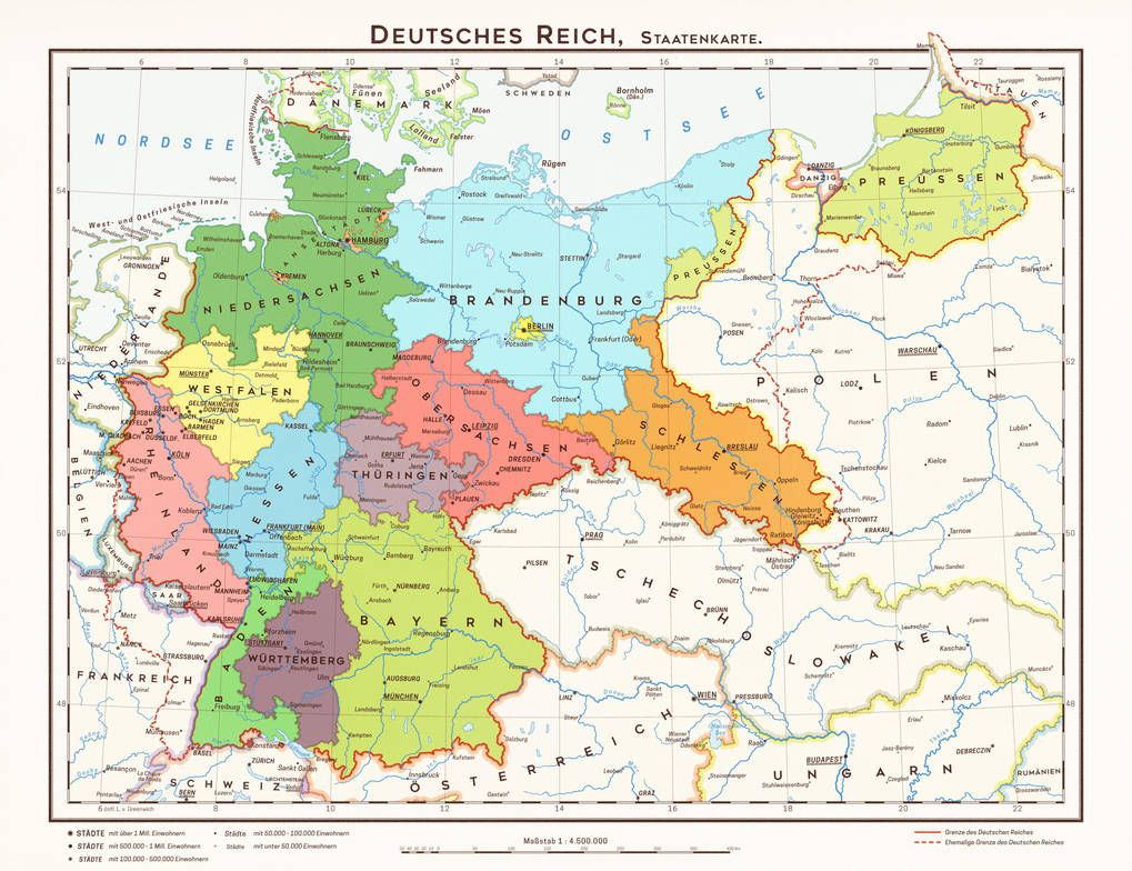 Hugo Preuss States Of Germany By 1blomma Territory In History