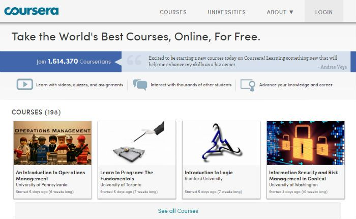 MOOC provider Coursera announces 10 new partner institutions