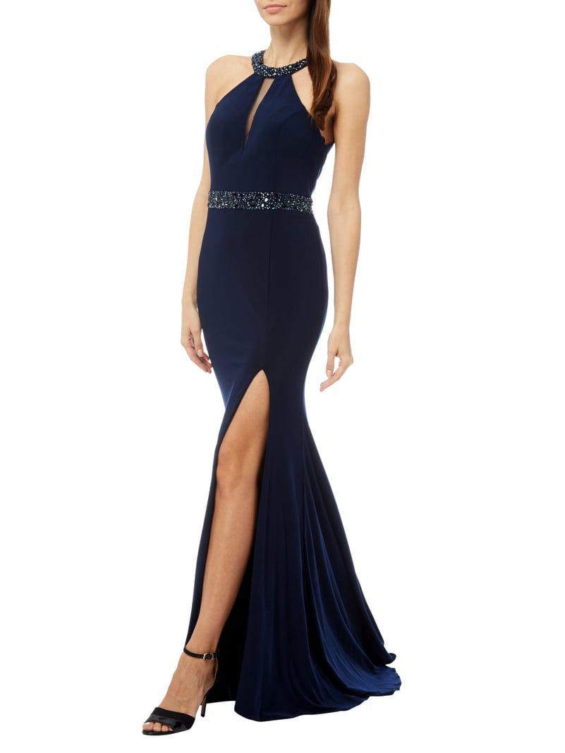 Abendkleid mit Collierkragen  Kleider, Abendkleid, Formelle kleider