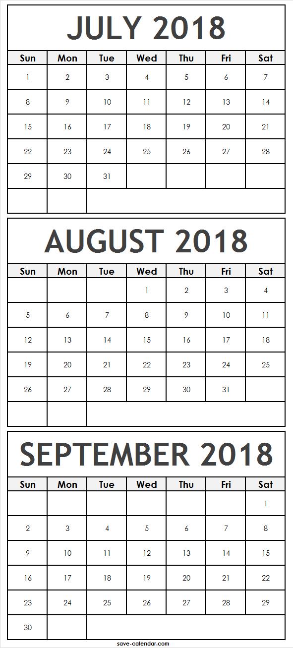 3 months july august september 2018 calendar 2018 calendar
