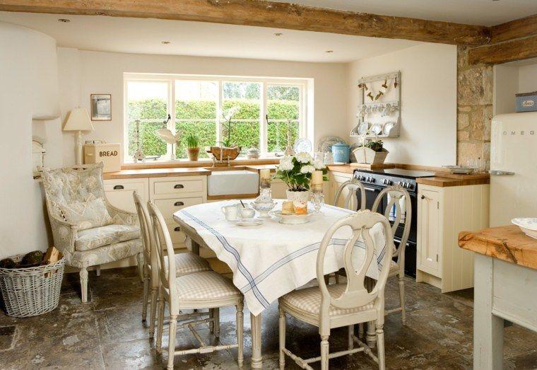 Cuisine campagne moderne 50 idées pour un décor chaleureux - deco maison avec poutre