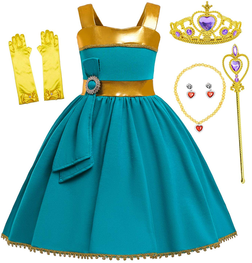 Amazon Com Princess Elena Costume Birthday Halloween Party Dress For Toddler Girls 5 Toddler Costumes Girl Disney Princess Dresses Toddler Girl Birthday Party [ 1042 x 1000 Pixel ]
