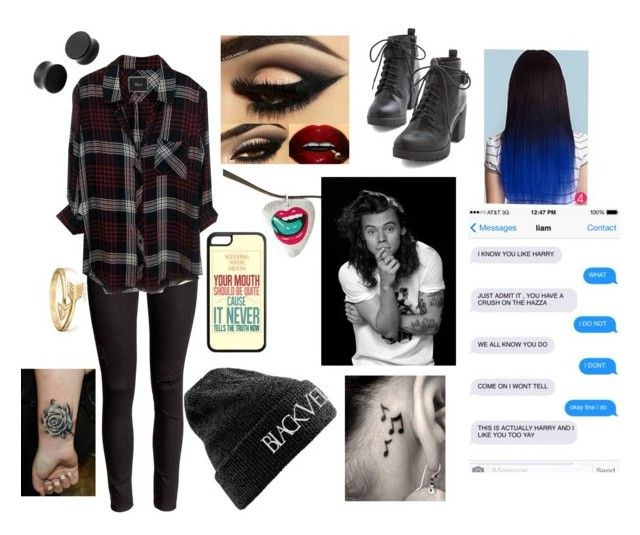 """""""I Like You Too ~Harry Styles Imagine"""" by bandsarebae2908 ❤ liked on Polyvore featuring мода, Rails, Bling Jewelry, bathroom, women's clothing, women, female, woman, misses и juniors"""