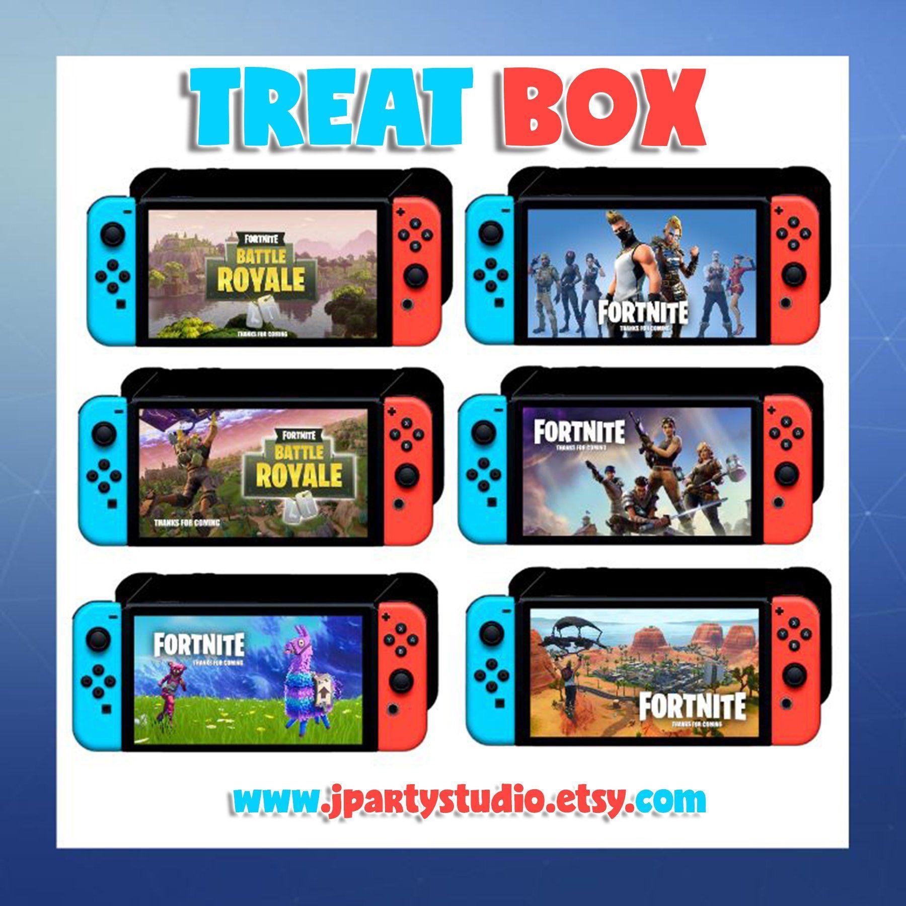 Nintendo Switch Treat Box Nintendo Switch Party Nintendo Switch