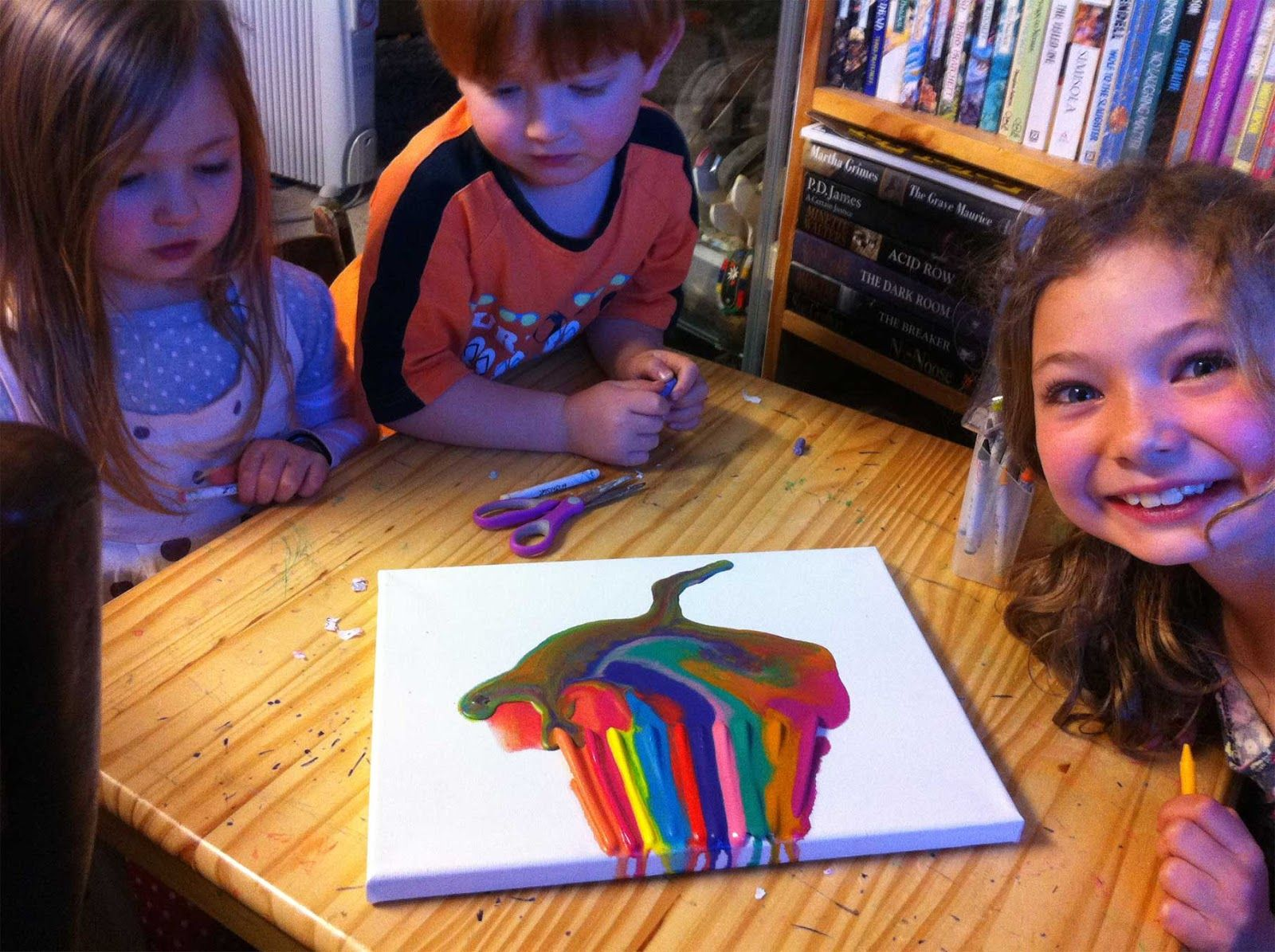 Melted+Candle+Wax+Art | Melted crayon art with kids, and more...
