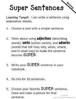 write a super sentence emc