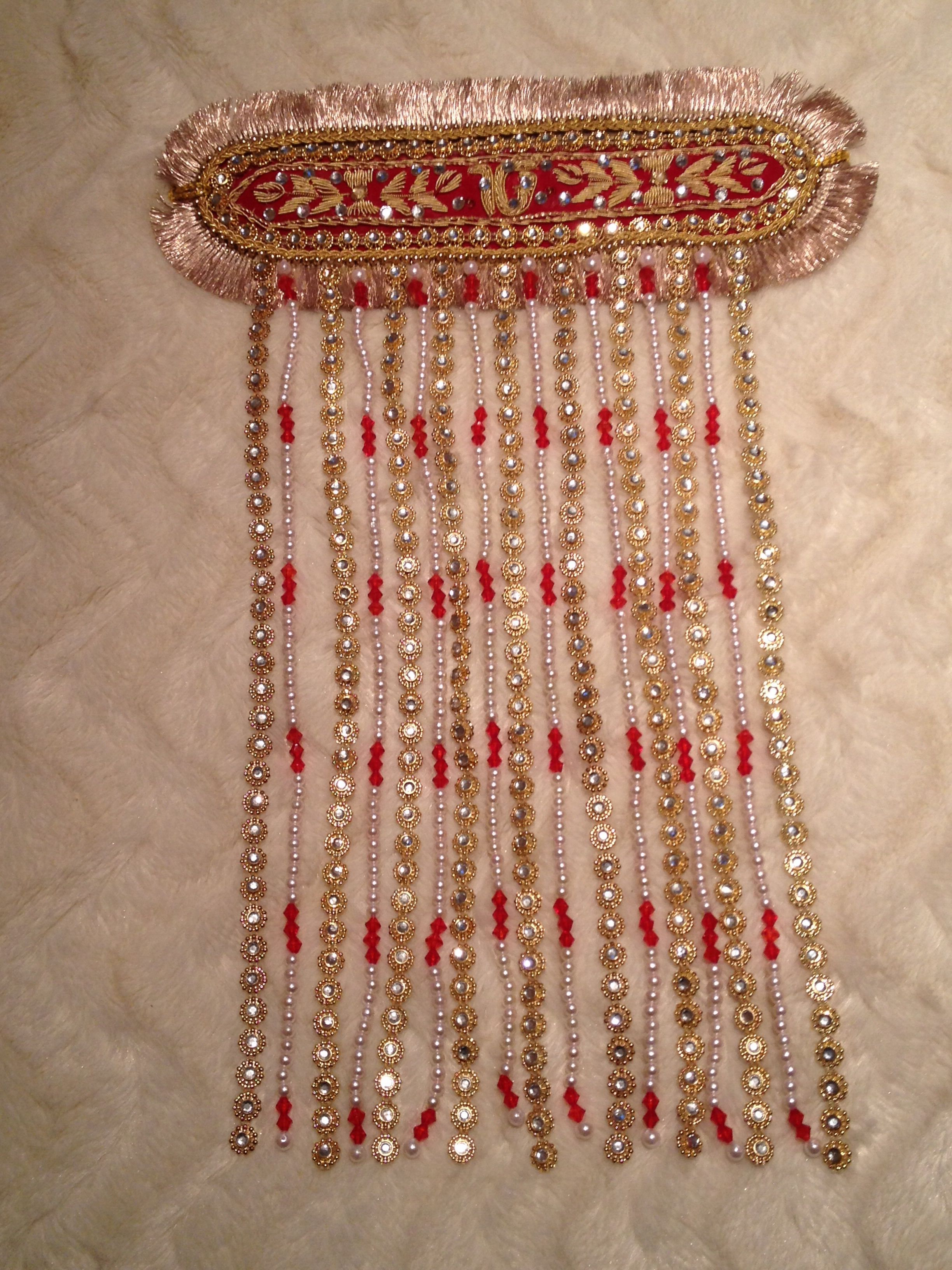 I modified this sehra indian veil worn by the groom on his