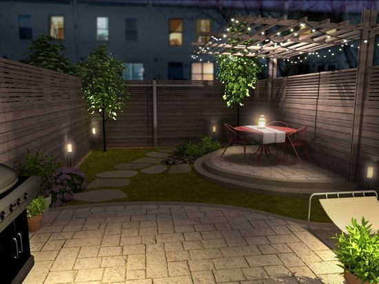 Re imagined into an urban oasis see more before and after for Small backyard oasis