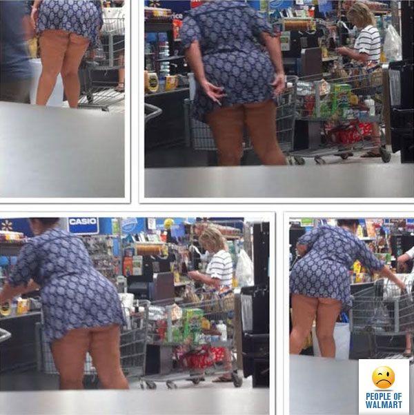 Walmart Milf  caught bending over