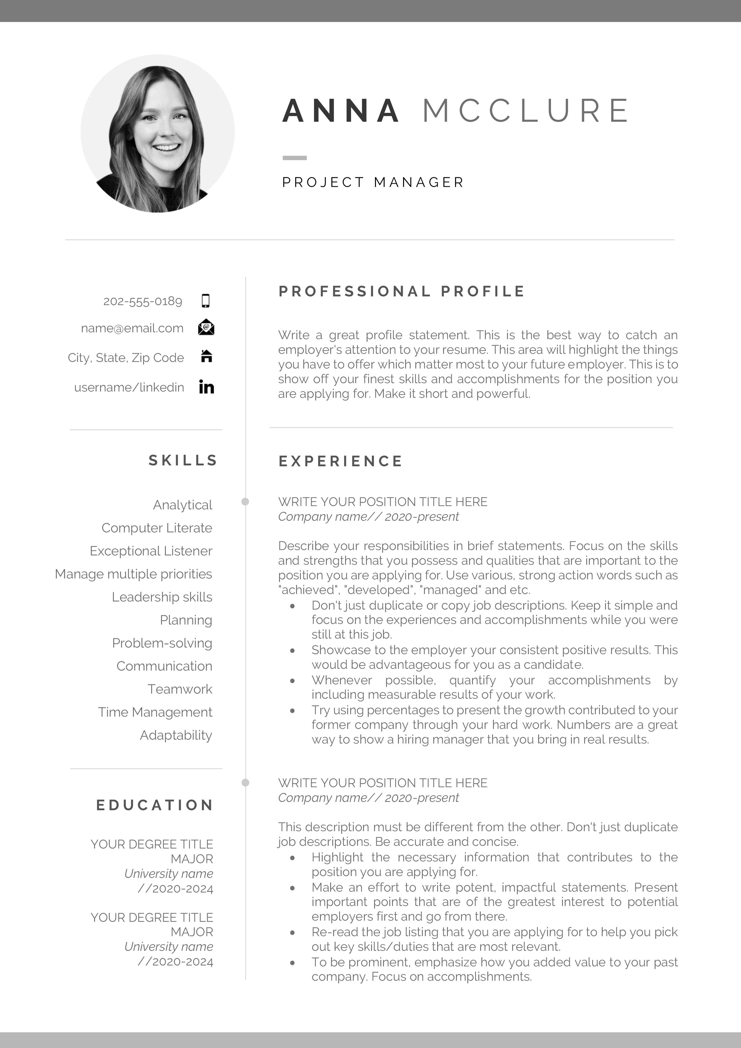 Resume Resume Template Professional Resume Template Resume Etsy In 2020 Cv Template Resume Template Professional Resume Template