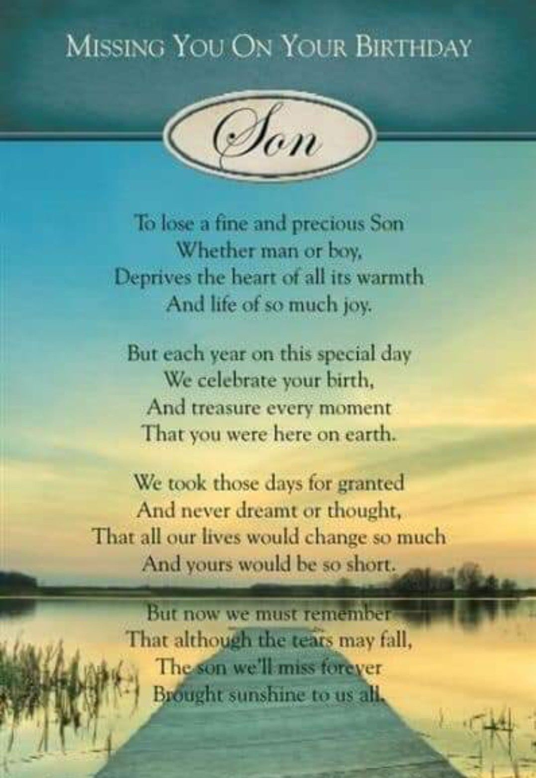 Idea by patricia mcgovern on poems birthday in heaven