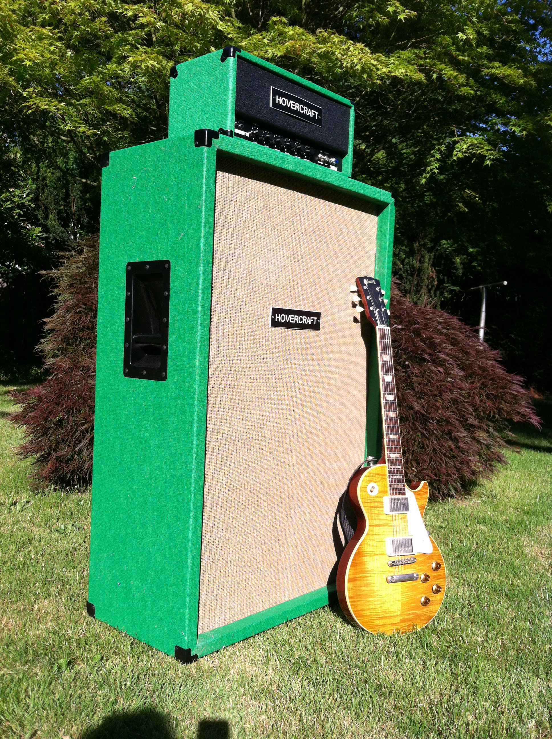 Hovercraft Dwarvenaut 20 And 6x12 Cabinet Trimmed In Matamp Green