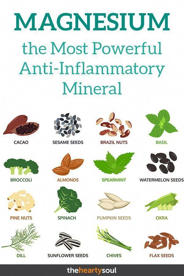 Why Magnesium is the Most Powerful Anti-Inflammatory Mineral Known to Man | The Hearty Soul.  #healt...