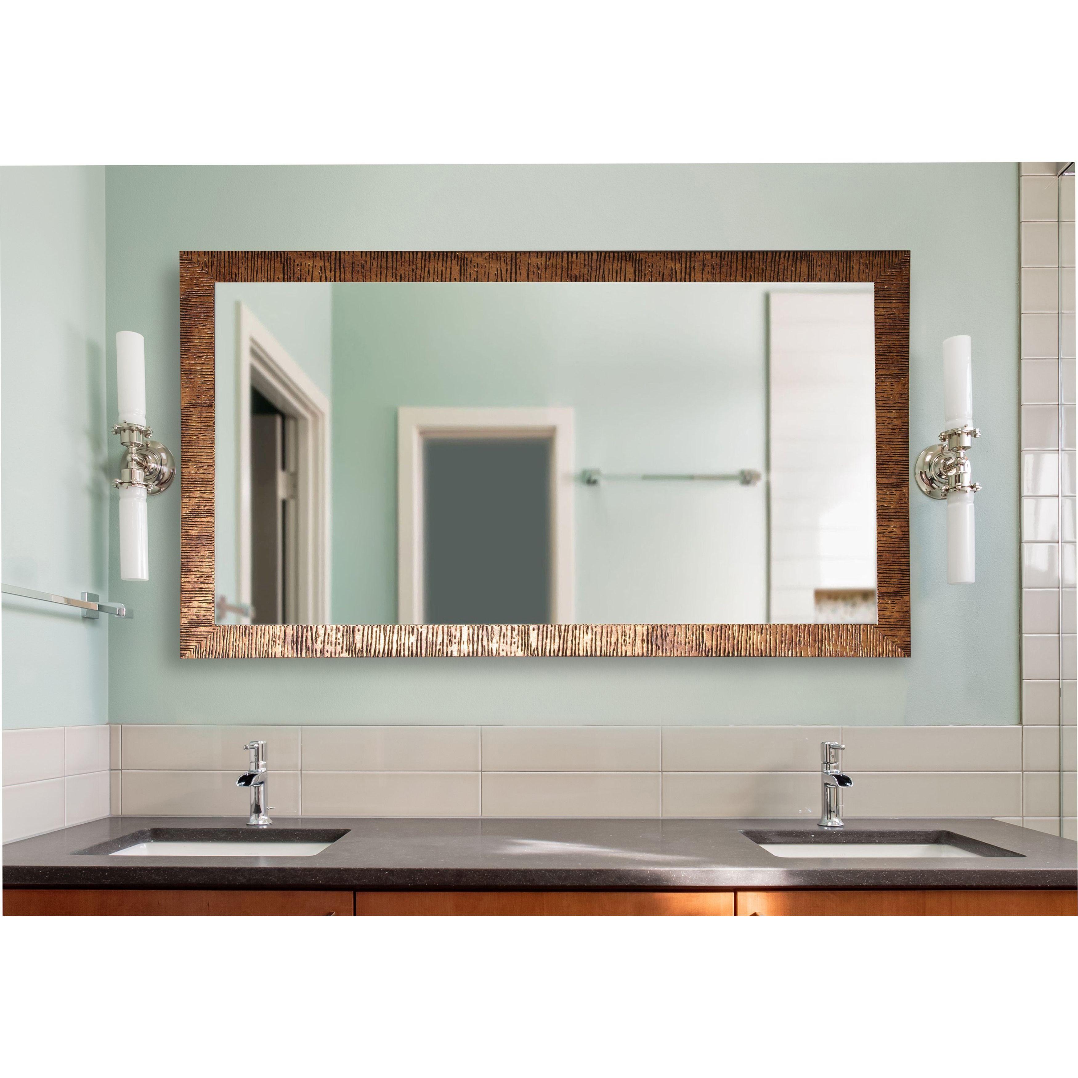 American Made Rayne Extra Large Safari Bronze Wall Mirror (33 x 62 ...