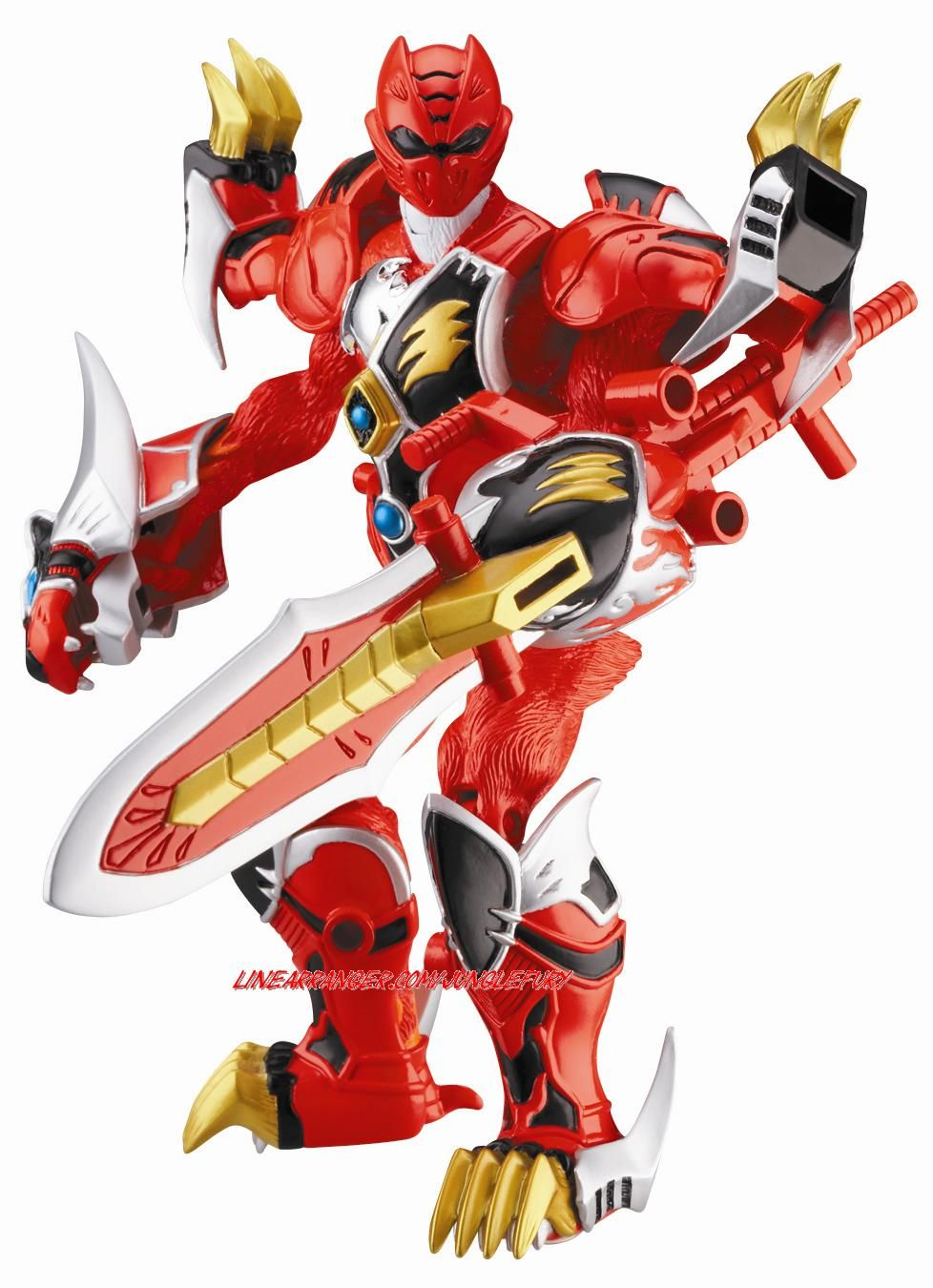Power Rangers Jungle Fury Red Ranger Battlizer Power Rangers