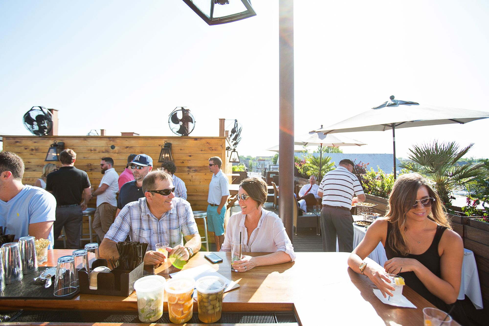 Great day for drinks on the rooftop bar at Stars Rooftop ...