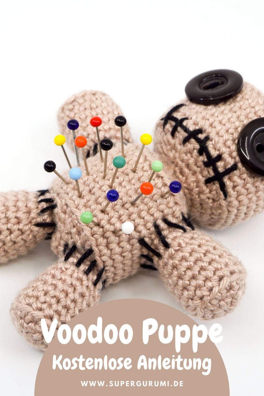 Amigurumi Voodoo Puppen Nadelkissen Häkelanleitung in 2021