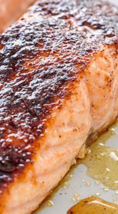 10-Minute Maple-Glazed Salmon Recipe | foodiecrush