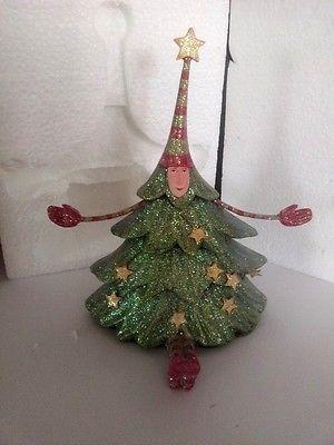 CHRISTMAS Krinkles Xmas Dept 56 TREE STOCKING HANGER by Patience Brewster  NIB - CHRISTMAS Krinkles Xmas Dept 56 TREE STOCKING HANGER By Patience