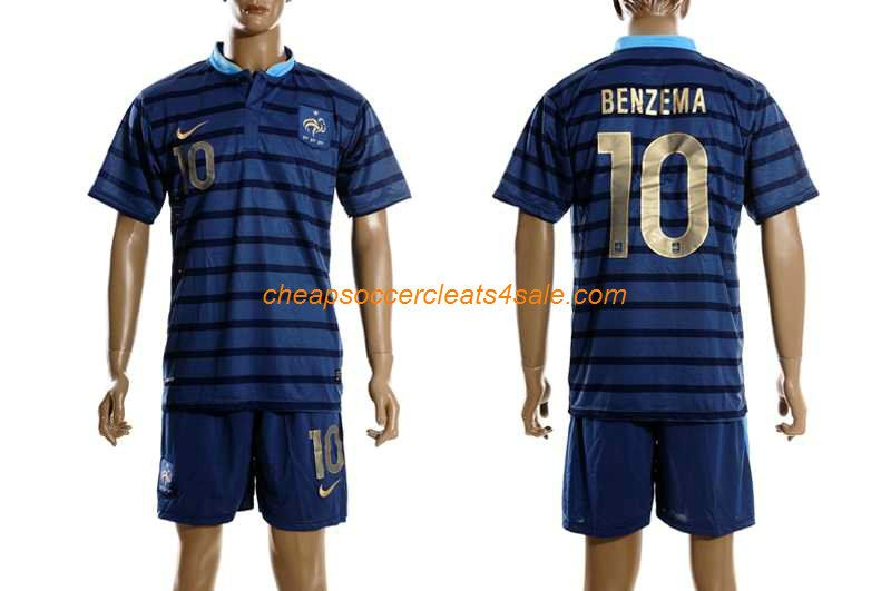cheap nike france national team 2012 2013 karim benzema number 10 soccer jerseys home blue