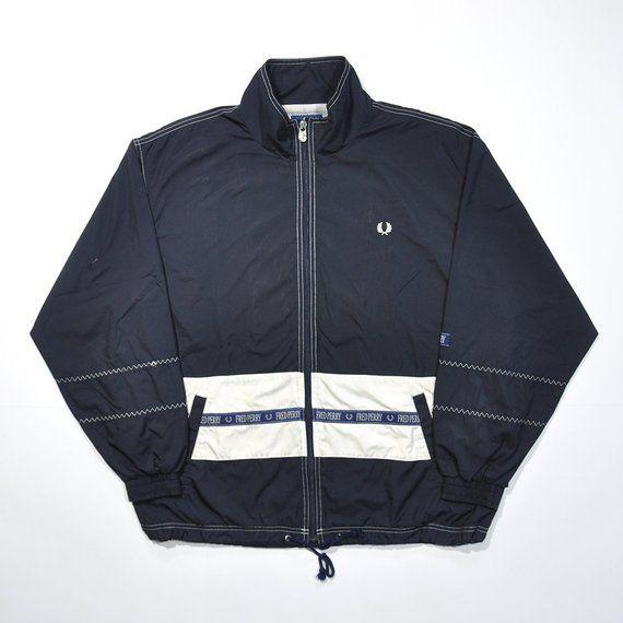 01c18266ec00bc Vintage 80s 90s FRED PERRY Windbreaker JACKET / Colorway Color Block / Fred  Perry Sportwear Casual Streetwear Tennis Hypebeast Size Large