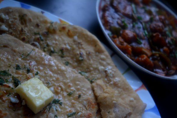 whole wheat garlic butter naan without yeast (step by step ...