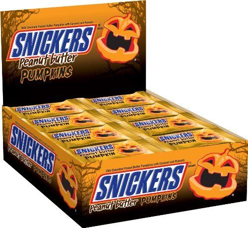 Snickers Peanut Butter Pumpkins Singles, 1.1 Ounce (Pack of 24) by Snickers, http://www.amazon.com/dp/B00C212L84/ref=cm_sw_r_pi_dp_3urvsb0JH4RYY