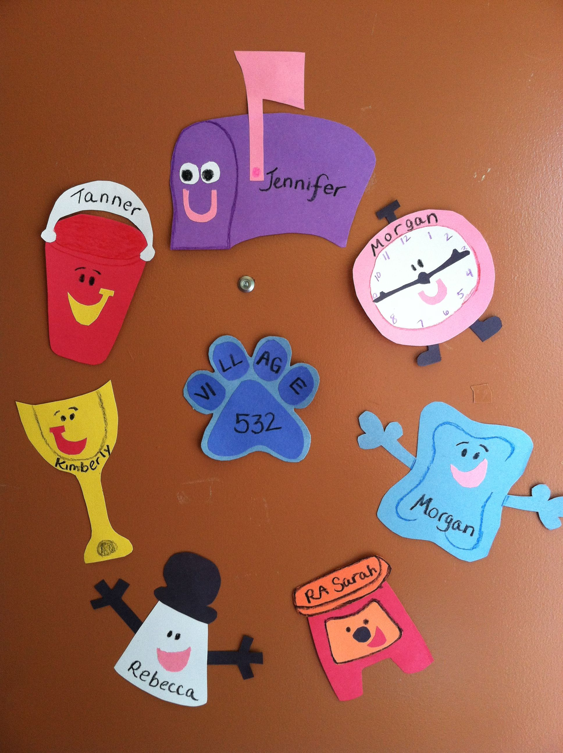 Some door decs I did for my residents this year. I used construction ...